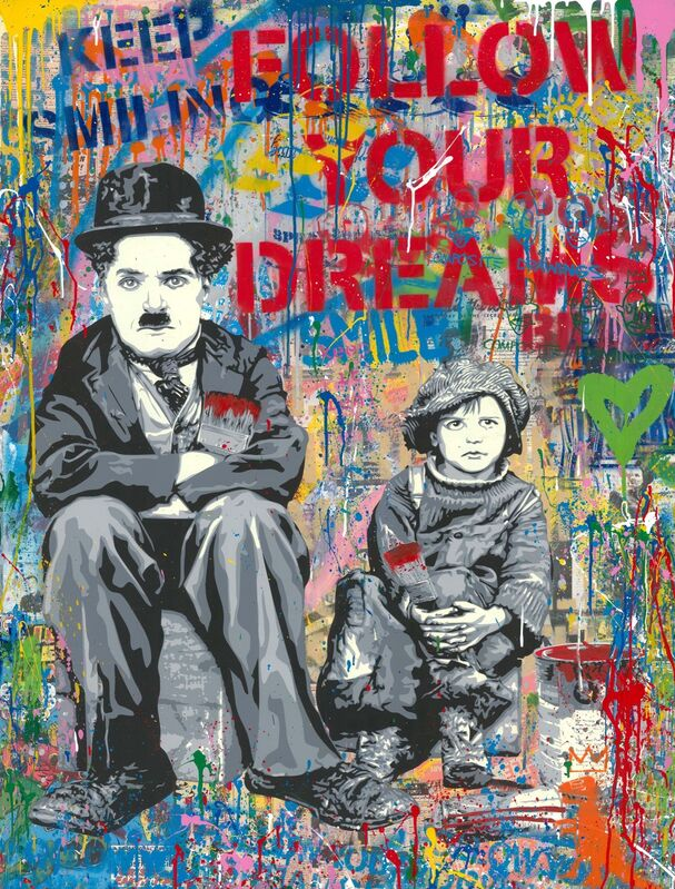 Mr. Brainwash, 'Day Dreaming', 2020, Drawing, Collage or other Work on Paper, Silkscreen and mixed media on paper, Taglialatella Galleries