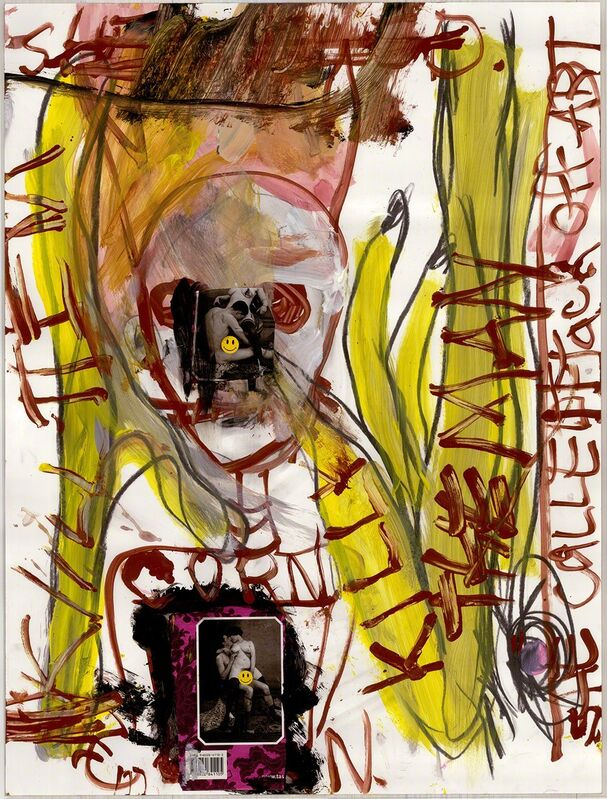 Paul McCarthy, Benjamin Weissman, Naotaka Hiro, 'Nao, I Think This Is Your Beer', 2015, Drawing, Collage or other Work on Paper, Marker, Ink, Pastel, watercolor, acrylic, charcoal on paper, The Box
