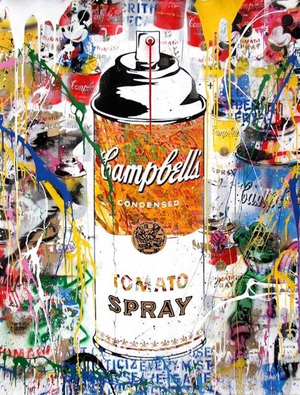 Mr. Brainwash, 'Tomato Spray', 2017, Print, Silkscreen and mixed media on paper, Bel-Air Fine Art