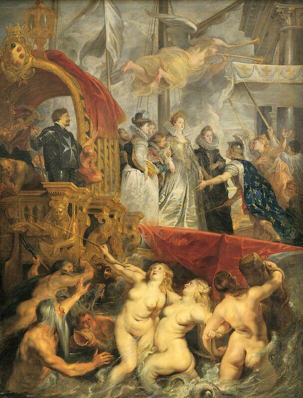 Peter Paul Rubens, 'Le debarquement de Marie de Médicis au port de Marseille le 3 November 1600 (Maria Medici arrives in Marseille, Nov. 3 1600)', ca. 1622-1625, Painting, Oil on canvas, Musée du Louvre