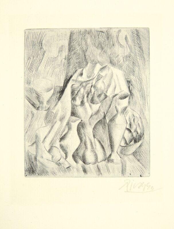 Pablo Picasso, 'Nature morte au compotier', 1908-09, Print, Drypoint, on laid paper, Christie's