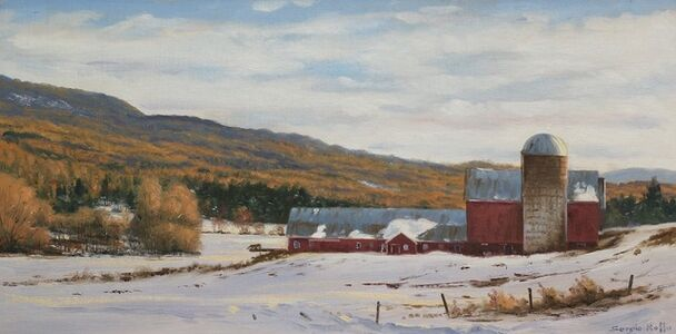 Sergio Roffo, 'Vermont Farm in Winter', 2020