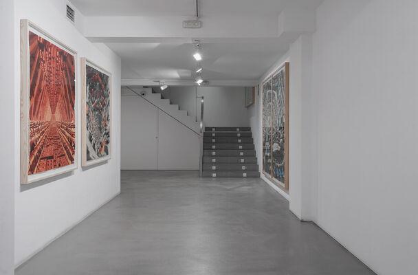 Visión de túnel, installation view