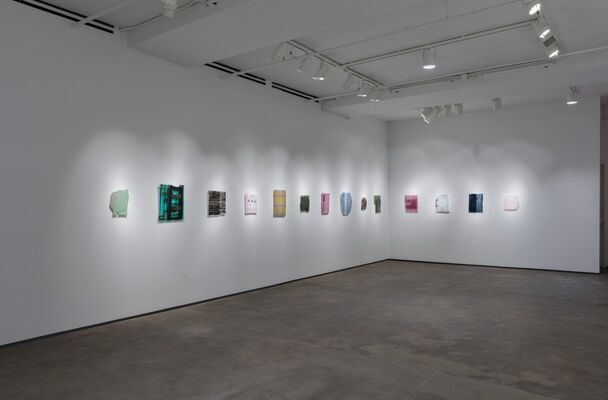Sam Moyer: Naked as the Glass, installation view