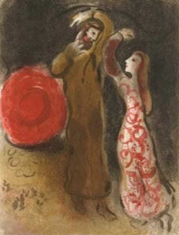 Marc Chagall, 'Meeting of Ruth and Boaz M.247', 1960, Print, Lithograph, Fine Art Acquisitions Dali