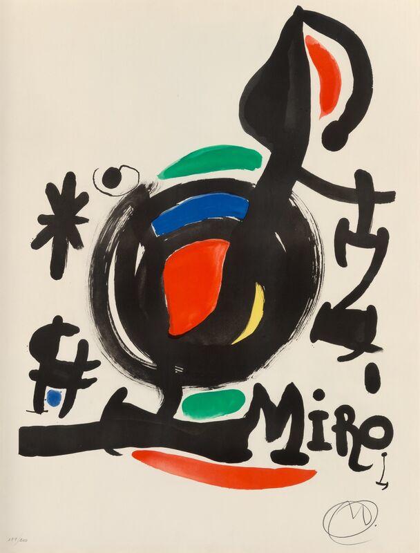 Joan Miró, 'Affiche pour l'Exposition Les essències de la terra', 1969, Print, Lithograph in colors on Guarro paper, Heritage Auctions
