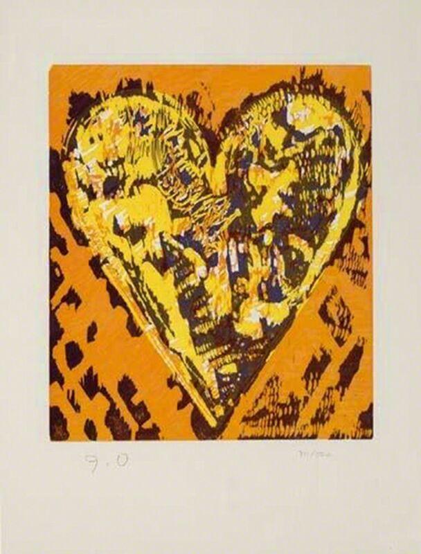 Jim Dine, 'Woodcut Heart', 1993, Print, Original color woodcut, michael lisi / contemporary art