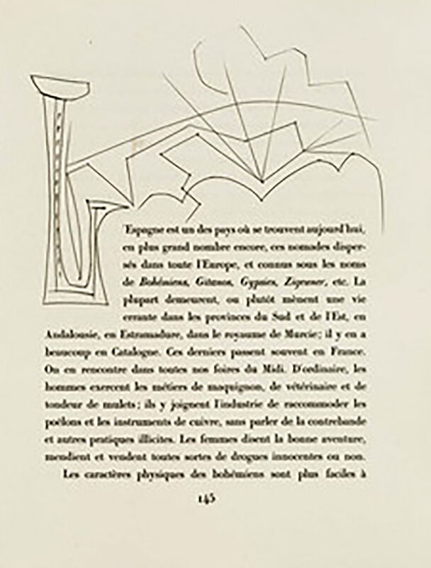 """Pablo Picasso, 'Monogram """"L"""" with Landscape (Plate XXXIII)', 1949, Print, Original etching on Montval wove paper, Georgetown Frame Shoppe"""