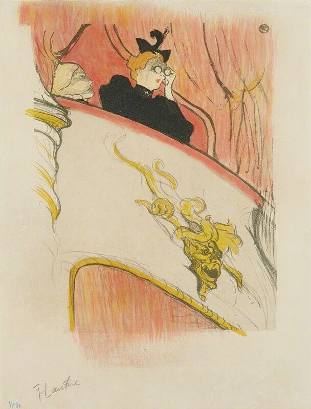 Henri de Toulouse-Lautrec, 'La loge au mascaron doré (The Box with the Gilded Mask)', 1893, Print, Lithograph in colors, on Japanese paper, the full sheet, Phillips