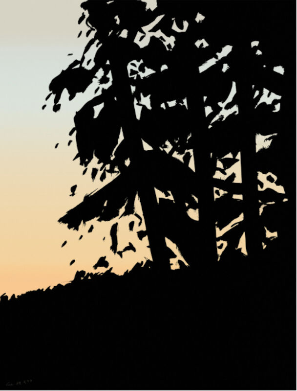 Alex Katz, 'Alex Katz, Sunset 1', 2020, Painting, Archival pigment inks on paper, Oliver Cole Gallery