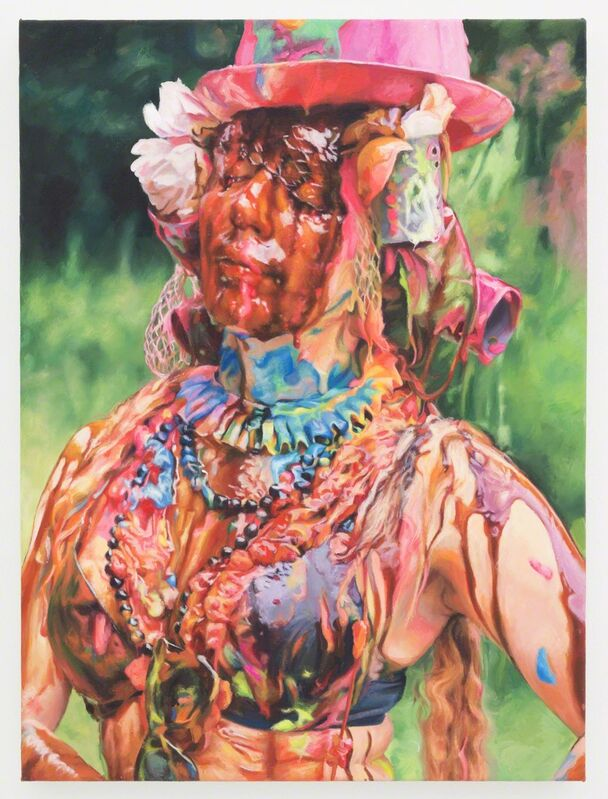 Francine Spiegel, 'Trish, Pink Hat', 2013, Painting, Acrylic on canvas, The Hole
