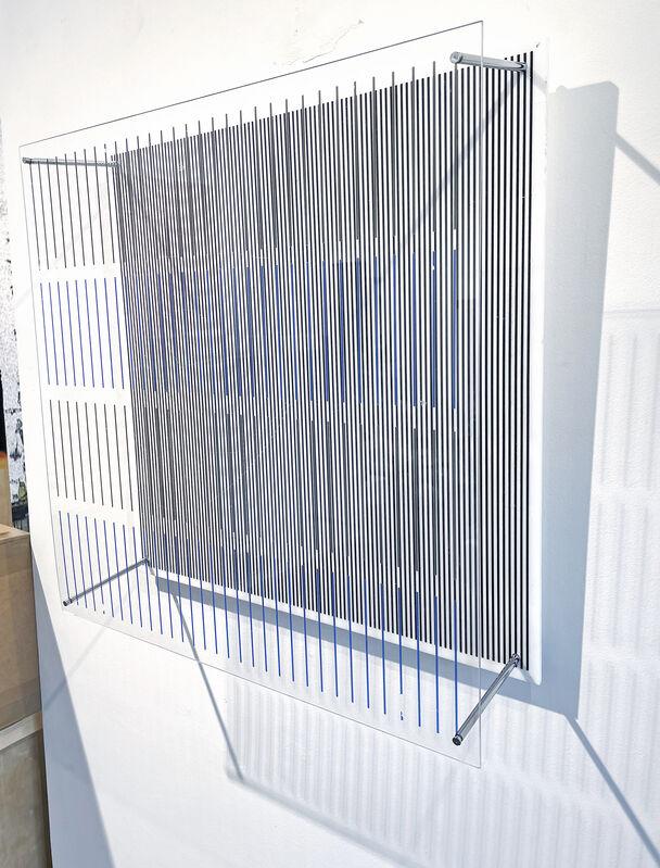 Jesús Rafael Soto, 'Tes Azules y Negras, Seri Sintesis', 1979, Sculpture, Silkscreen on Plexiglas w/metal rods, Mark Hachem Gallery