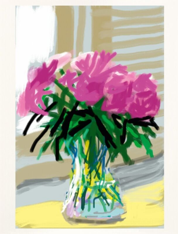 David Hockney, 'Untitled No.535', 2009/2020, Print, IPhone drawing in colours, on cotton-fibre archival wove, RAW Editions