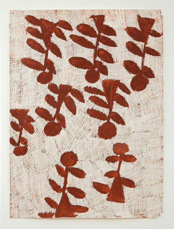 Nyapanyapa Yunupingu, 'Djorra (paper) 20', 2014, Drawing, Collage or other Work on Paper, Felt tip pen, earth pigments on discarded print proofs, Roslyn Oxley9 Gallery