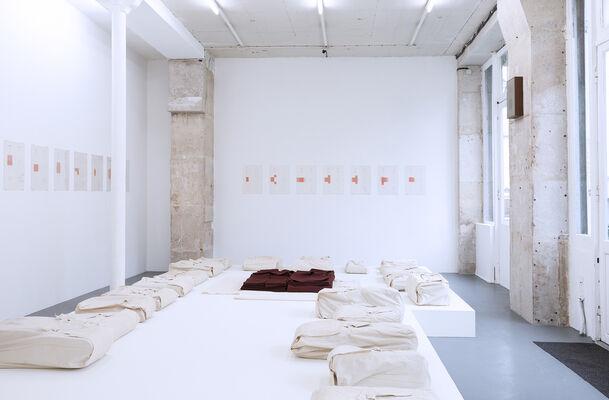Franz Erhard Walther, 'Schreitbahnen und Zeichnungen, 1972', installation view