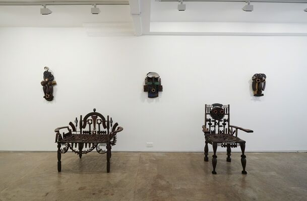 Goncalo Mabunda, 'The Messenger', installation view