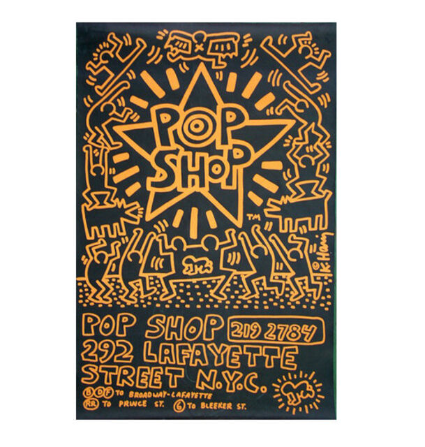 3d7439af4 Keith Haring | POP SHOP NYC, 1985, Advertising Past-Up Poster ...