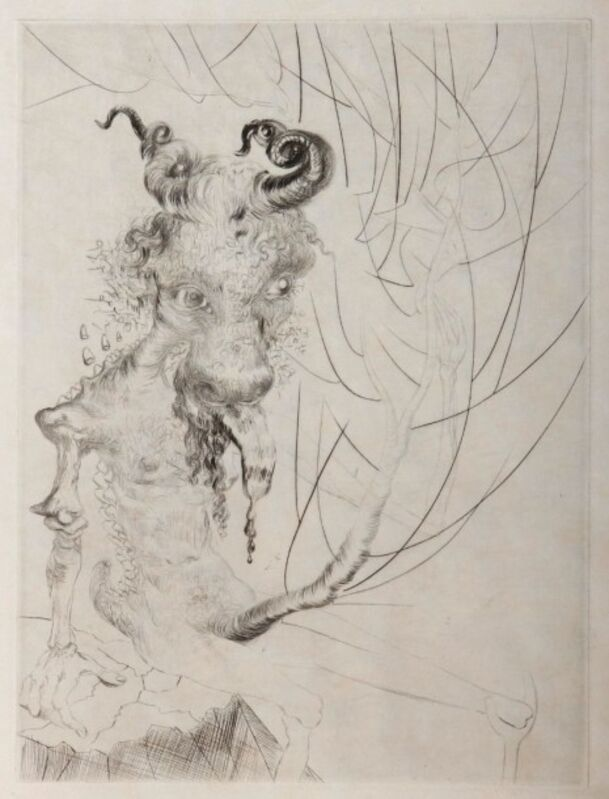 Salvador Dalí, 'Head of Veal', 1969, Drawing, Collage or other Work on Paper, Original engraving, Dali Paris