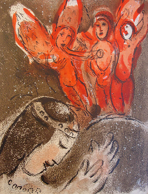 Marc Chagall, 'Sarah and the Angel', 1960, Print, Lithograph, Georgetown Frame Shoppe