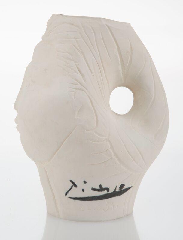 Pablo Picasso, 'Tête de femme couronnée de fleurs', 1954, Design/Decorative Art, Terre de faïence pitcher, Heritage Auctions