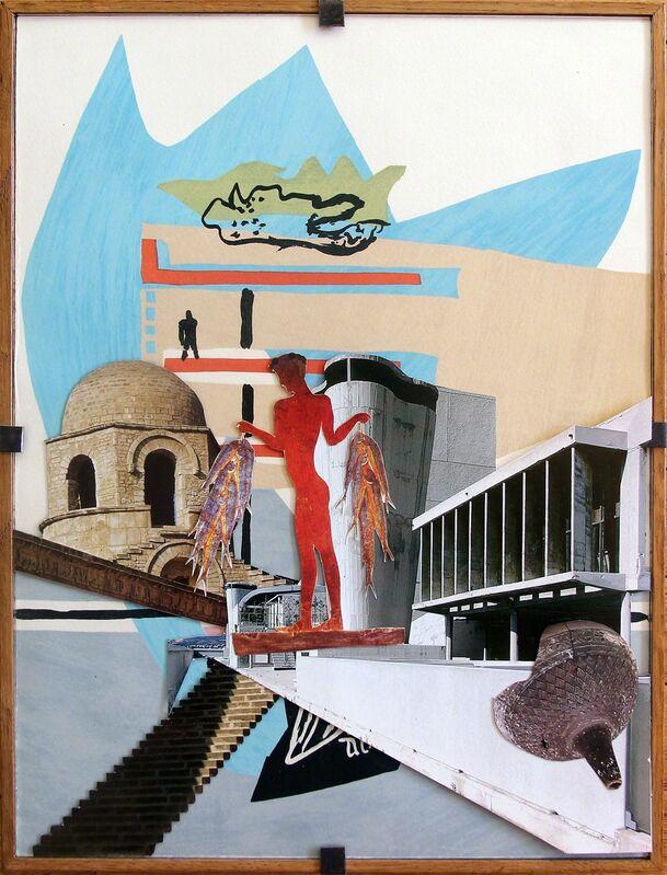 Cristian Chironi, 'My house is a Le Corbusier (Unité d'habitation_travel)', 2016, Drawing, Collage or other Work on Paper, Collage su opere riprodotte di Le Corbusier, stampa su carta, colla spray 3M,, Ex elettrofonica