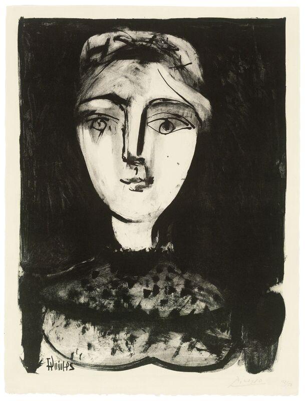 Pablo Picasso, 'Tête de jeune femme', 1947, Print, Lithograph on Arches wove paper, Christie's
