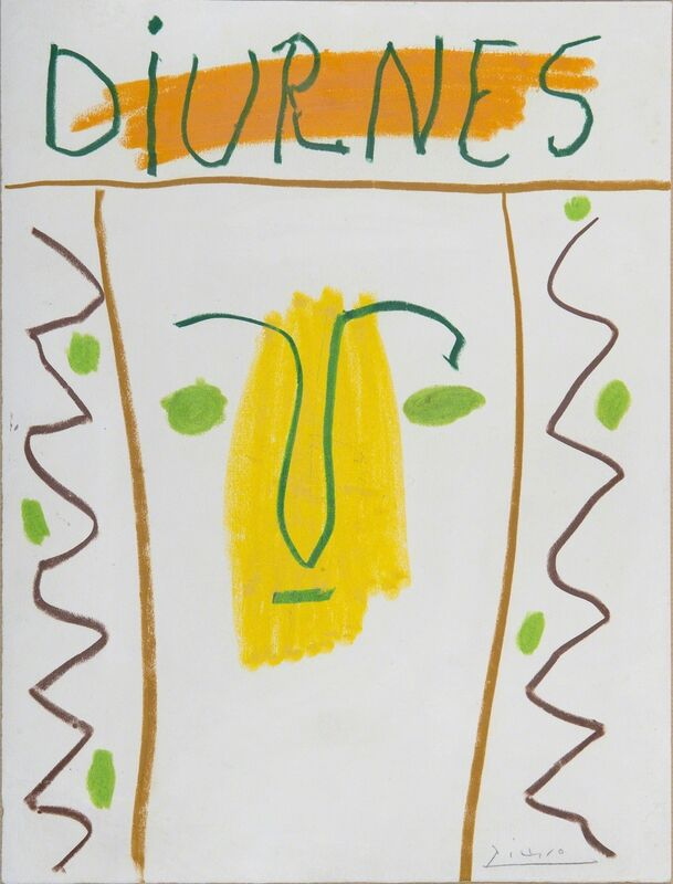 Pablo Picasso, 'Diurnes', 1962, Drawing, Collage or other Work on Paper, Wax crayon on paper, BAILLY GALLERY