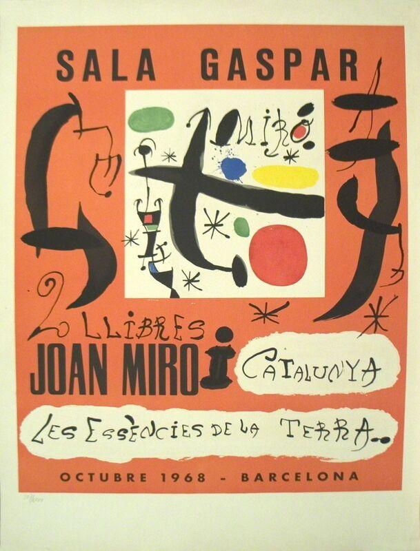 Joan Miró, '2 Llibres: Joan Miro i Catalunya-Les Essencies De La Terra', 1968, Ephemera or Merchandise, Stone Lithograph, ArtWise