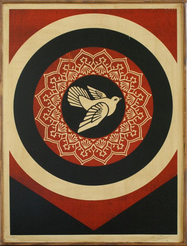Shepard Fairey, 'Peace Dove on Wood', 2011, Print, Screenprint on wood, EHC Fine Art Gallery Auction