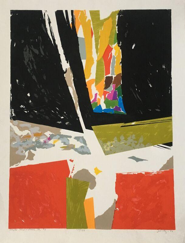 Seong Moy, 'Bright Sand & Black Sky #3', 1970, Print, Silkscreen on Paper, Montanaro Fine Art