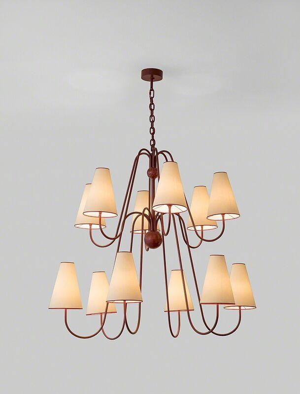 """Jean Royère, '""""Bouquet"""" twelve arm ceiling light', ca. 1956, Design/Decorative Art, Painted metal, Galerie Jacques Lacoste"""