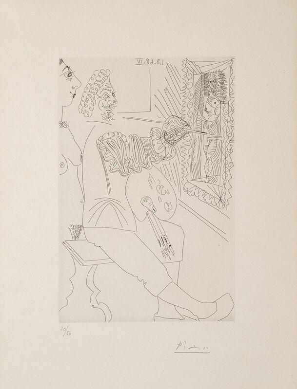 Pablo Picasso, 'Artiste Peintre au travail, avec un Modèle laid (from la Serie 347)', 1968, Print, Etching, Il Ponte