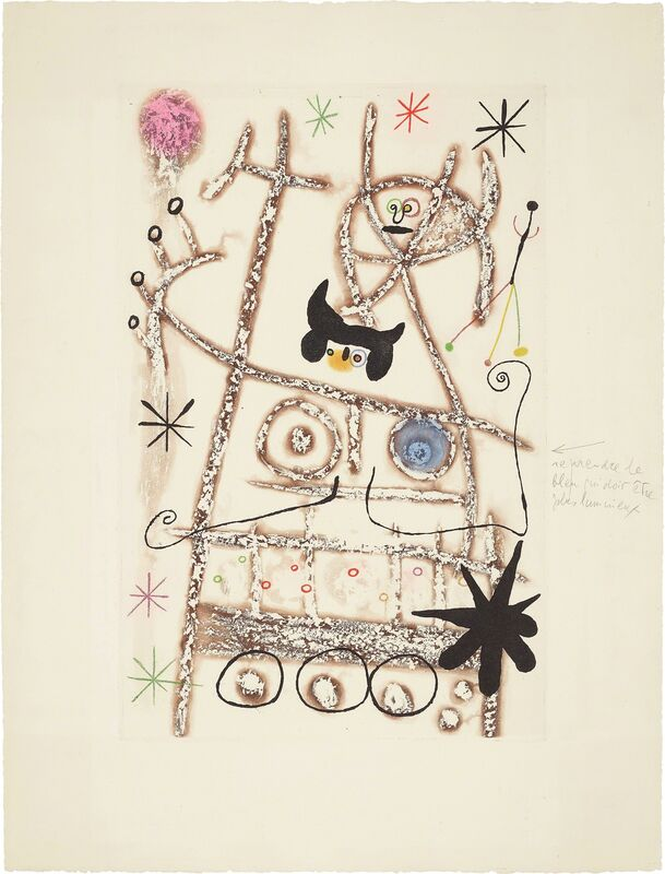 Joan Miró, 'Les forestiers (bistre) (The Foresters - dark brown)', 1958, Print, Aquatint in colors, on Rives BKF paper, with full margins, Phillips