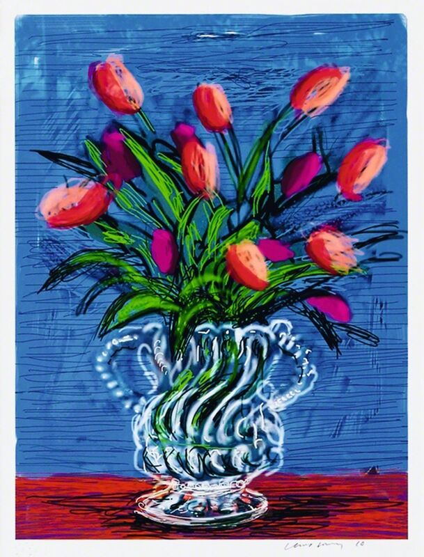 David Hockney, 'ipad Drawing Untitled, 346', 2010, Print, 8 color ink–jet print on cotton fibre archival paper, Kenneth A. Friedman & Co.