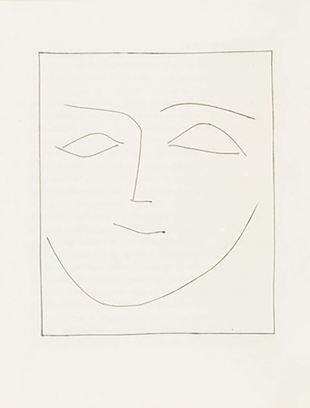 Pablo Picasso, 'Square Head of a Woman Half Smiling (Plate XII)', 1949, Print, Original etching on Montval wove paper, Georgetown Frame Shoppe