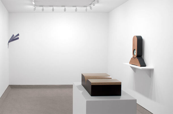Richard Artschwager: Books, Punctuation, Splats & Time, installation view