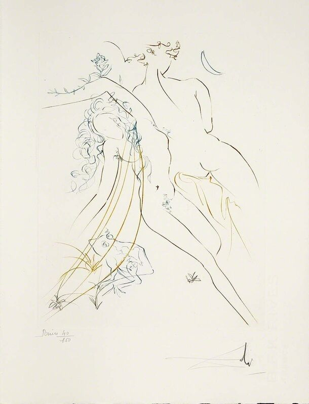 Salvador Dalí, 'Innocent Sleep (Le Paradis Perdu, Plate A)', 1974, Print, Hand-signed engraving, Martin Lawrence Galleries