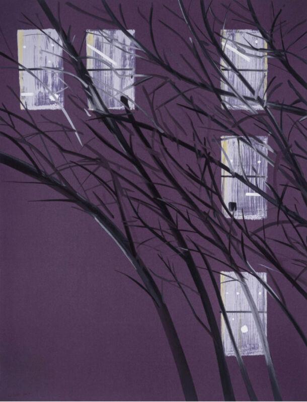 Alex Katz, 'Alex Katz, Purple Wind', 2017, Print, Silkscreen, Oliver Cole Gallery