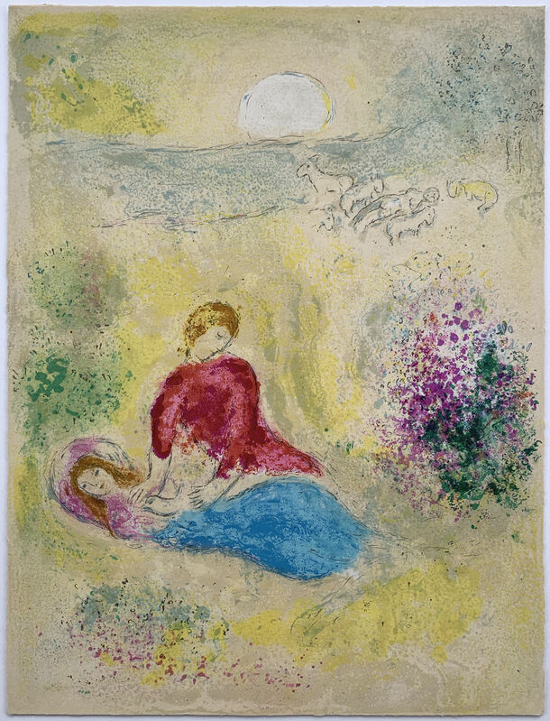 Marc Chagall, 'The little Swallow', 1961, Print, Original lithograph in colors, Galerie Fetzer
