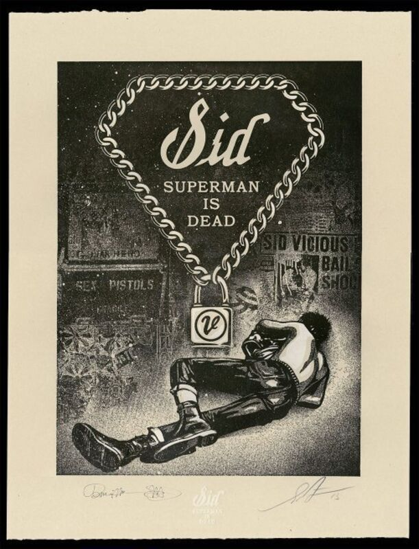Shepard Fairey, 'Superman Is Dead, set of 10', 2013, Print, Letter press, Works on Paper, Inc.