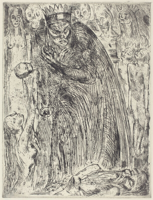 Wilhelm Lehmbruck, 'Macbeth V (The Vision of Lady Macbeth)', 1918, Print, Etching and drypoint, National Gallery of Art, Washington, D.C.