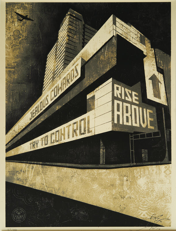 Shepard Fairey, 'Rise Above CAC', 2010, Print, Silkscreen, CAC Cincinnati Benefit Auction