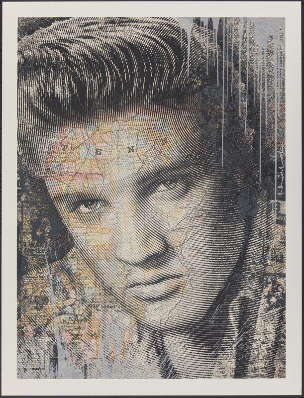 Mr. Brainwash, 'King of Rock (Elvis Presley) (Silver)', 2017, Print, Screenprint in colors on archival paper, Heritage Auctions