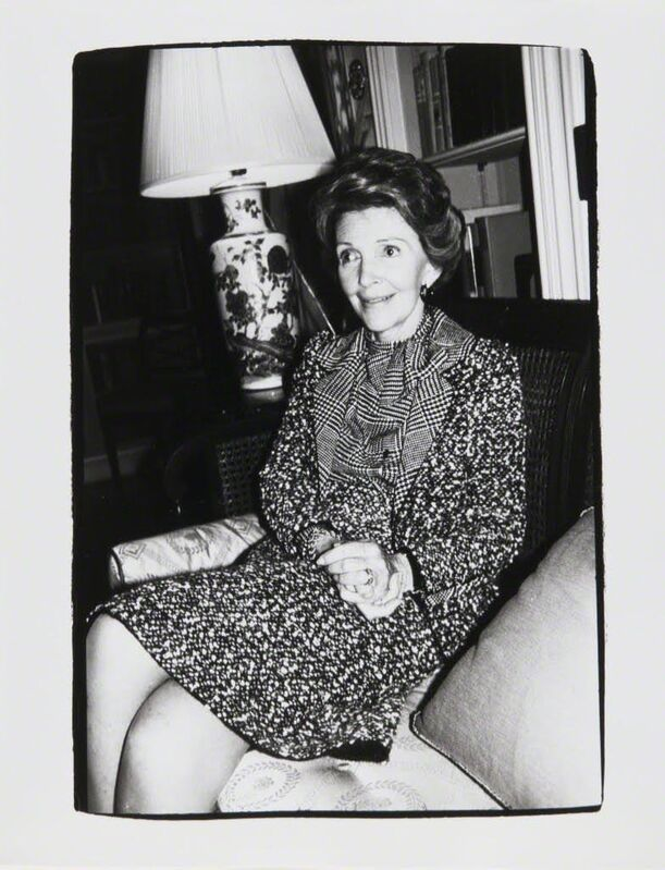 Andy Warhol, 'Andy Warhol, Photograph of Nancy Reagan, 1981', 1981, Photography, Silver gelatin print, Hedges Projects