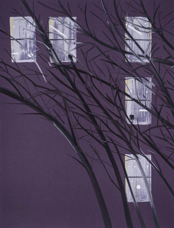 Alex Katz, 'Purple Wind', 2017, Print, 22-color silkscreen on Saunders 425 gsm paper, Haw Contemporary