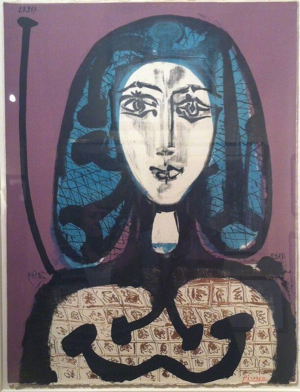Pablo Picasso, 'La femme a la fesille, femme aux cheveux verts', 1949, Print, Color lithograph, Ruth Ziegler Fine Arts Ltd.