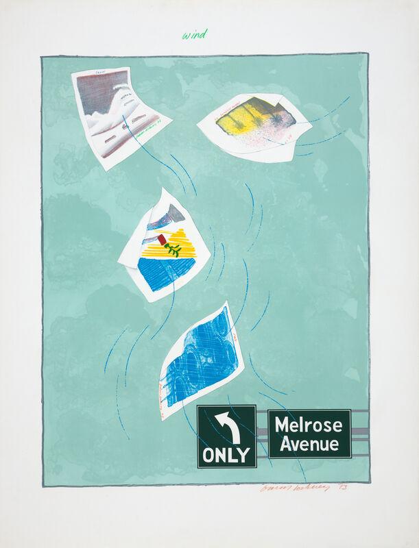 David Hockney, 'Weather Series-Wind', 1973, Print, Lithograph, Susan Sheehan Gallery