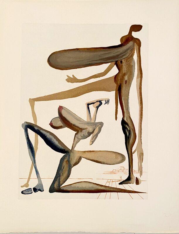 Salvador Dalí, 'La Divine Comédie - Purgatoire 22 - La prodigalité', 1963, Print, Original wood engraving on BFK Rives paper, Samhart Gallery