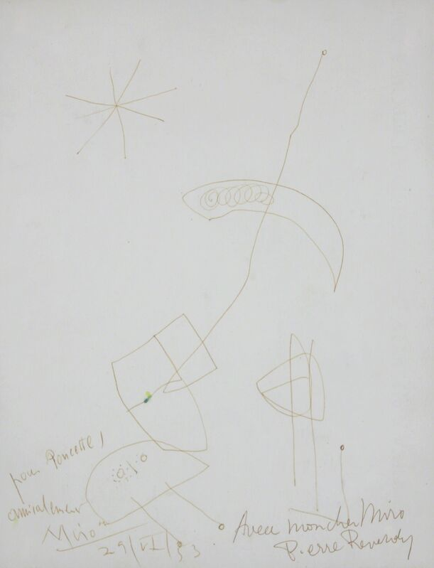 Joan Miró, 'Untitled', 1953, Drawing, Collage or other Work on Paper, Pen Drawing on Paper, Gormleys Fine Art