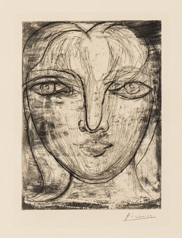 Pablo Picasso, 'Portrait de Marie-Thérèse de Face (Baer 417, Bloch 276)', 1934, Print, Drypoint, Forum Auctions